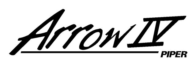 PA-28RT-201 Piper Arrow IV Logo (PPL-033) by