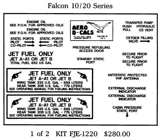 Falcon 10/20 Series Exterior Decals (2)