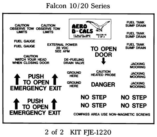Falcon 10/20 Series Exterior Decals (2) - Click Image to Close