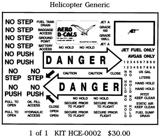 Helicopter Generic Exterior Decals Group A (1)