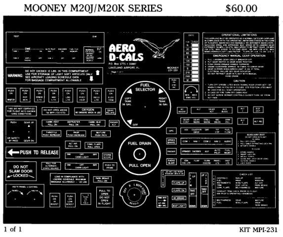 Mooney M20J/M20K Series Economy Interior Decals (1)