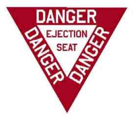 Military Ejection Seat Label