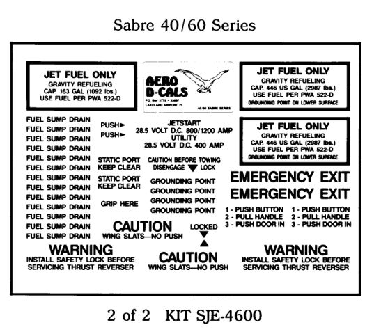 Sabre 40/60 Series Exterior Decals (2)